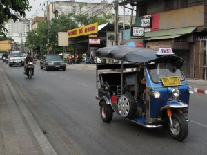 no one stops for pedestrians in Chiang Mai, so it is a bit like human frogger