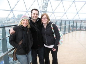 me, Stu, Julianne at the dome in Victoria Square